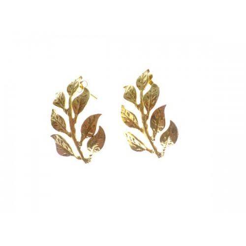 Pendientes hojas barrocas