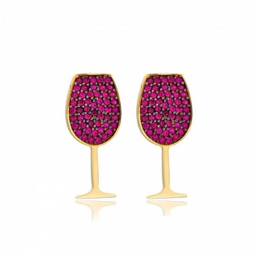 Pendientes copita de vino